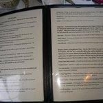 The list of available teas
