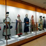 Historical costumes from various Mongolian groups