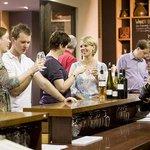 Tasting wines at De Bortoli cellar door