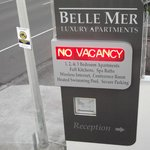 The sign for Belle Mer