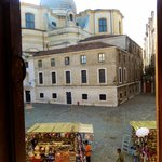 This was the view from our room of the church and Campo San Geremia