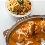 Butter Chicken with Vegetable Biryani