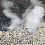 in de Colca Canyon  bij Liahuar de geisers