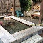 敷地内にある足湯処
