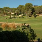 Golf course adjoining hotel