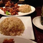 sesame chicken with brown rice