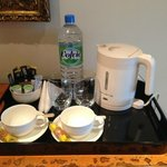 tea/coffee tray in room