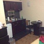 kitchen area queen room