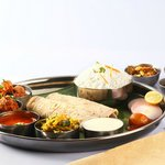 ACTUAL CHICKEN THALI PIC TAKEN AT OUR RESTAURANT