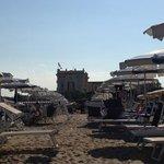 veduta dalla spiaggia del Bagno Grand Hotel Cesenatico, settembre 2013