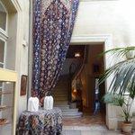 Tapestry in atrium
