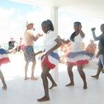 Dancers on the Catamaran