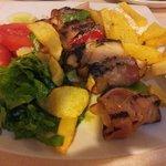 Chicken/bacon souvlaki