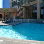 Great pool and hot tub, sun mostly until 3pm