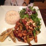Gong bao chicken was ok