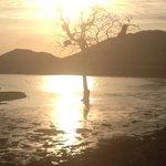 Sunset at the dam.