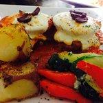 Eggplant Milano - ham , slice tomato - mozzarella ...!