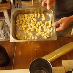 hand made gnocchi - can you tell which are matteo's and which are ours?