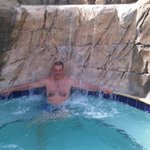 the jaccuzi is a fantastic way to chil after a hard day at universal