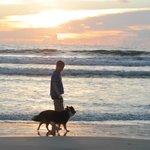 Walk on the beach at sunrise