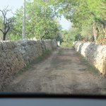 la route d'accès