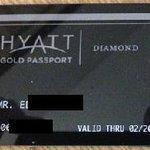 Hyatt Gold Passport Diamond level membership card
