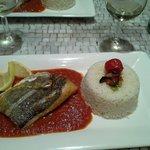 filetto di pesce bianco e riso