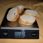 Brot für eine erwachsene Person zum Frühstück