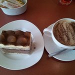 Delicious cake and coffee!