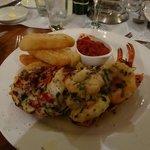 Lobster and Tiger prawns