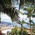 Vanop het balkon zicht op Funchal en zee