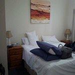 Bedroom. Small Flatscreen on opp wall.