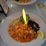 Main meal  - seafood medley with rice and beans