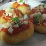 Deep fried mini pizzas an occasional special