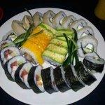 3 portions of sushi from Pura Vida. Fantastic!