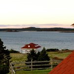 Stunning views from the outside deck accross the water to the town of Lubec