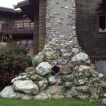 Huge stone chimney