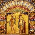 beautiful Neptune and Amphitrite mosaic