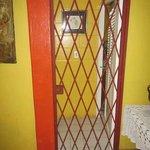 Door to bedrooms: lock cut out