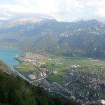 Interlaken and Lake Brienz from Harder Kulm