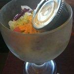 Fun, Unique Salad Presentation in a Large, Chilled Margarita Glass