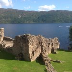 Urquhart Castle, a mile walk from Rowan Cottage