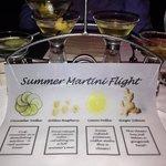 summer flight of martinis