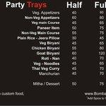 New Party tray menu