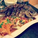 Red Snapper special with tamarind sauce.