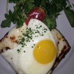 croque provincial with over medium egg