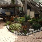 Tiki and grill area