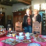 Medieval Living/Dining Room with Huguette and my wife