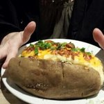 """this potato was about 8"""" long and 3"""" in diameter"""