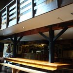 Dining, bar, food area.